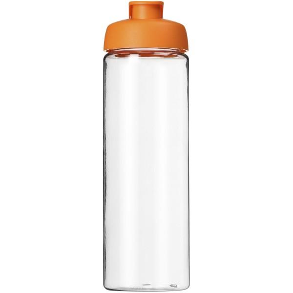 H2O Vibe 850 ml sportovní lahev s vyklápěcím víčkem - Průhledná / 0ranžová