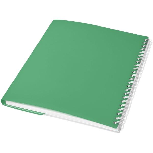 Poznámkový blok Curve A6 - Zelená / Bílá