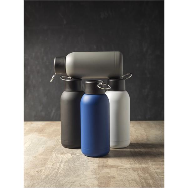 Brea 375 ml vacuum insulated sport bottle - White