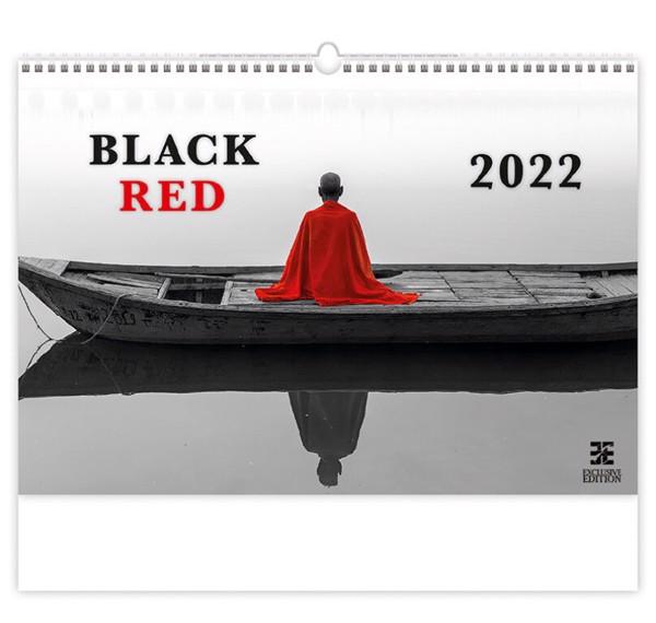 Měsíční kalendář 2022 - Black / Red