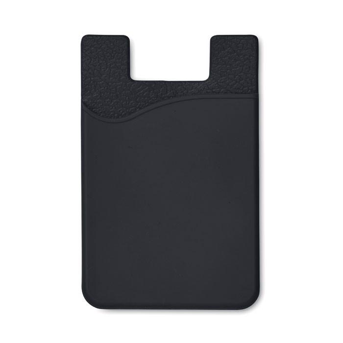 Silikonový držák na karty Silicard - black