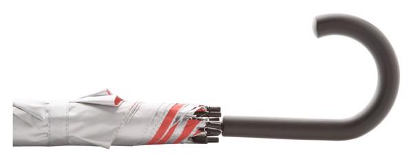 Deštník Automat Cardin - Červená / Stříbrná