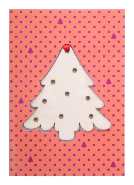 Christmas Card TreeCard, Ball - Natural