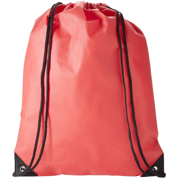 Evergreen non-woven drawstring backpack - Red