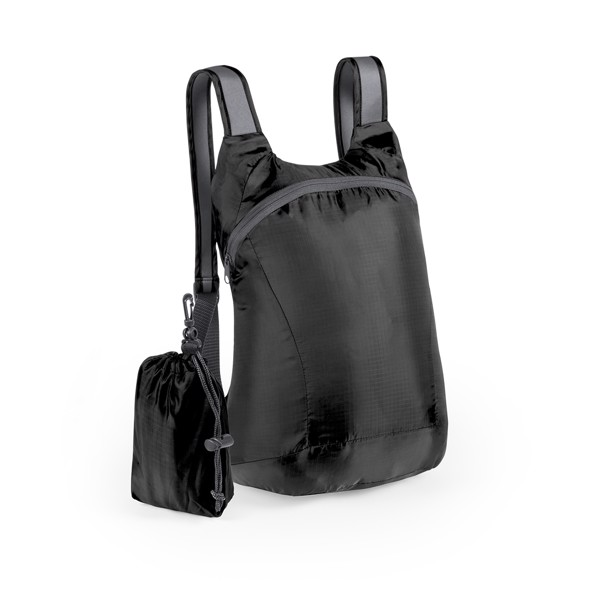 Foldable Backpack Ledor - Black