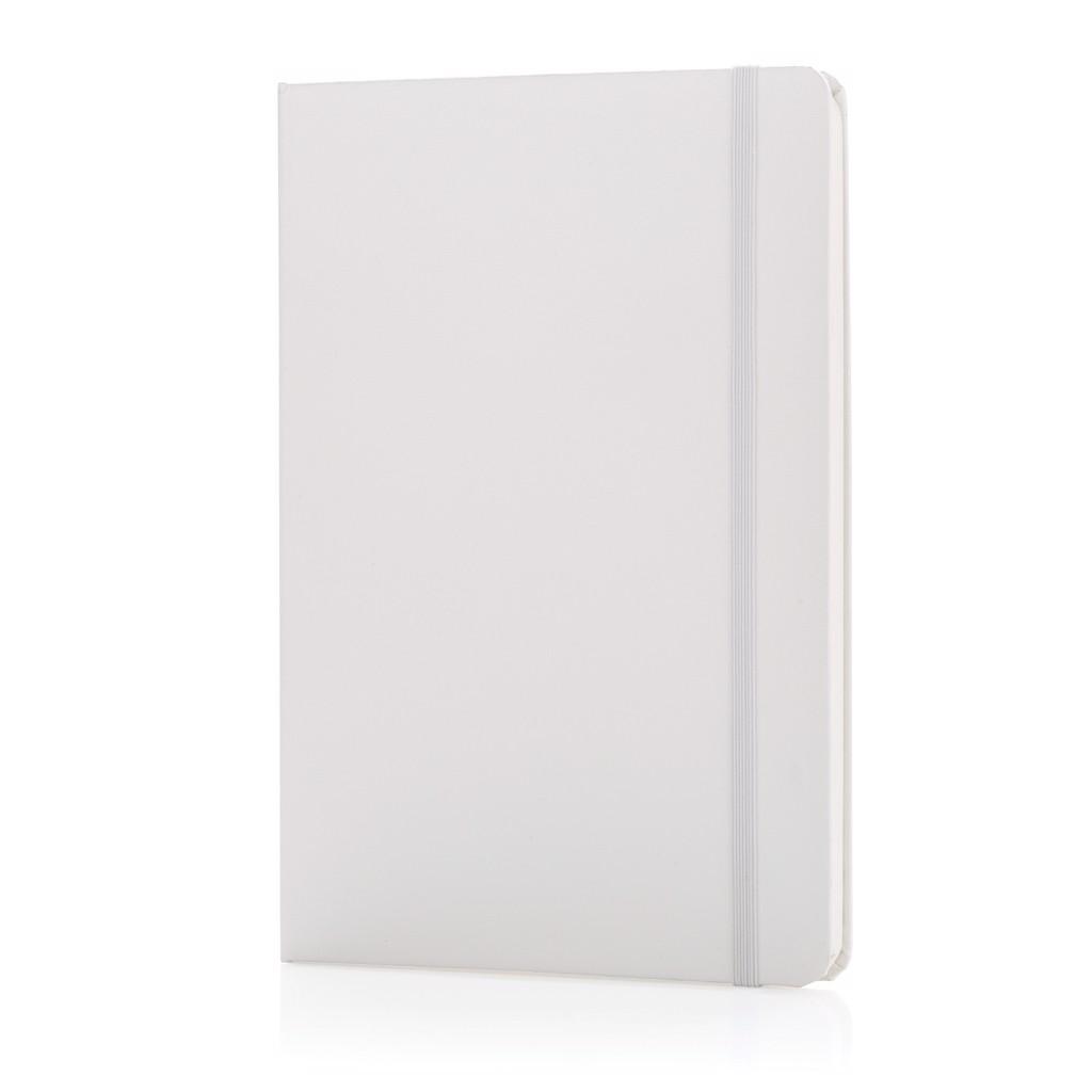 Basic keményfedelű A5-ös jegyzetfüzet - Fehér