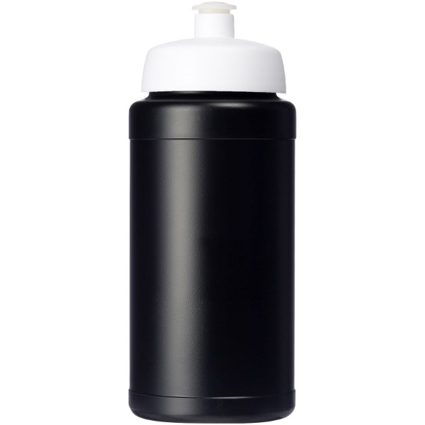 Baseline® Plus 500 ml bottle with sports lid - Solid Black / White