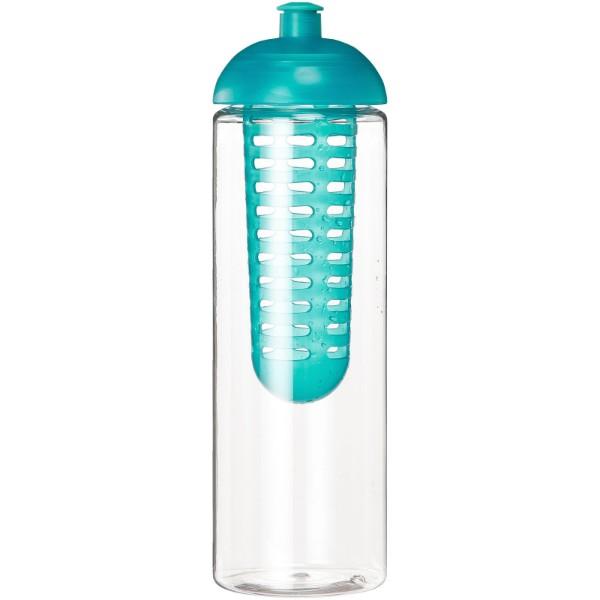 H2O Vibe 850 ml lahev s infuzérem a kupolovitým víčkem - Průhledná / Aqua blue