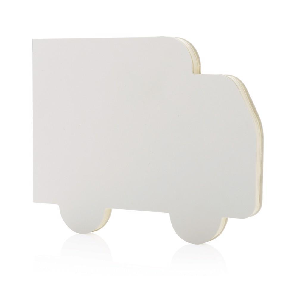 Zápisník ve tvaru kamionu