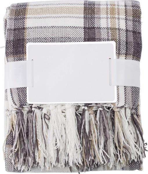 Decke 'Enjoy' aus Polyester - Brown