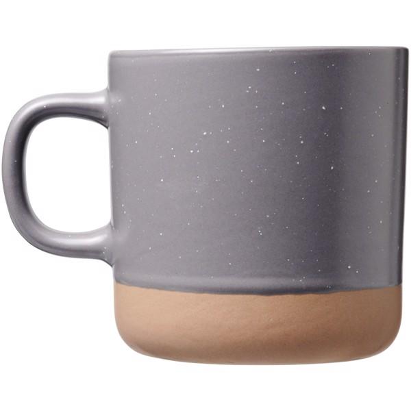Pascal 360 ml ceramic mug - Grey