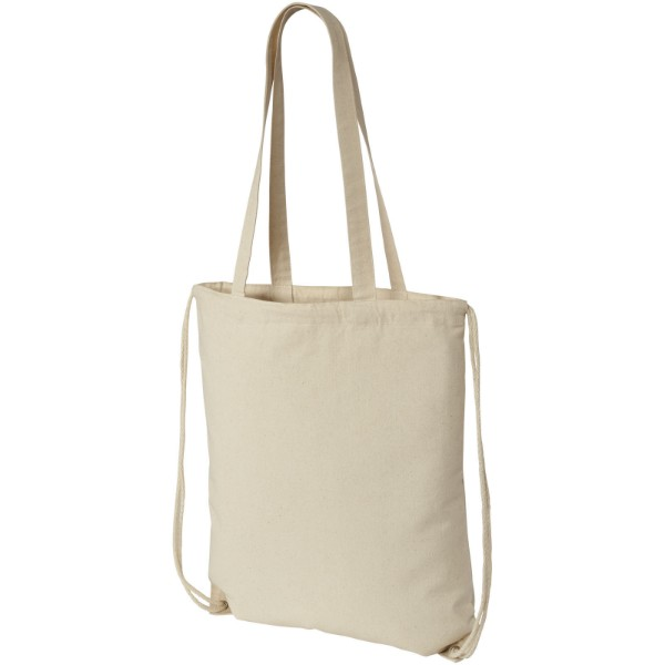 Eliza 240 g/m² cotton drawstring backpack - Natural