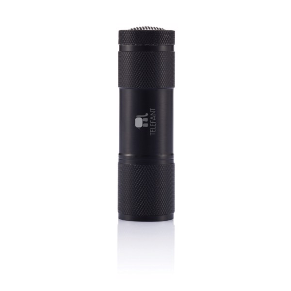Hliníková svítilna Quattro - Černá