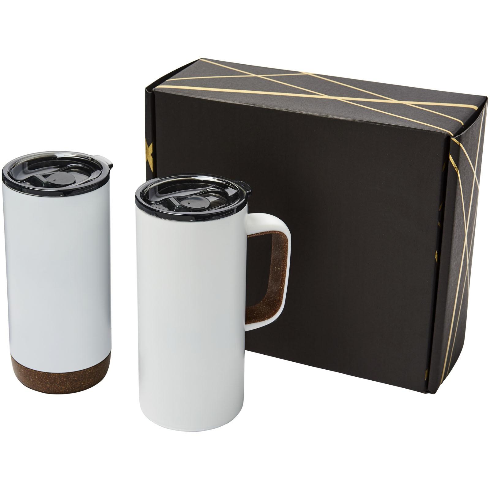 Valhalla mug and tumbler copper vacuum gift set - White