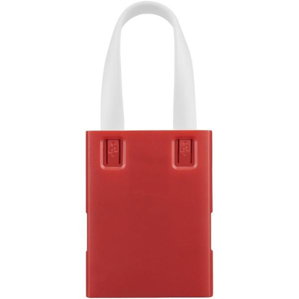 USB rozbočovač & kabely 3 v 1 - Červená s efektem námrazy