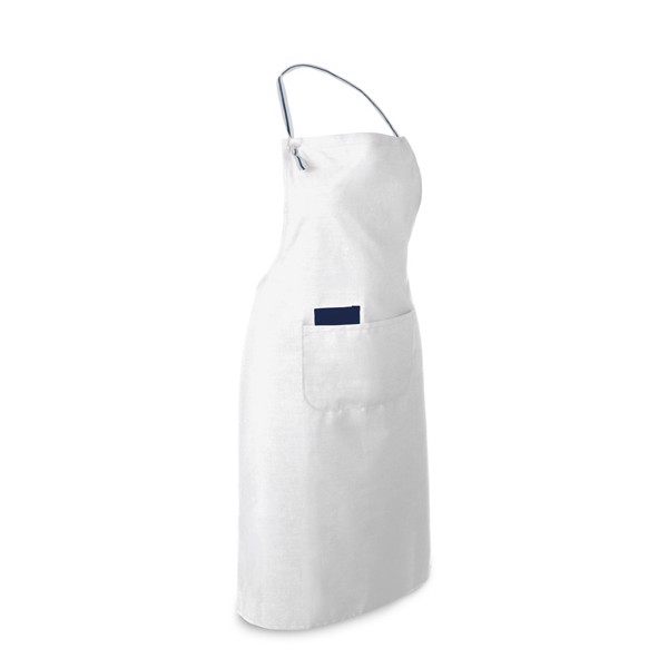 CHIVES. Apron in cotton and polyester - White