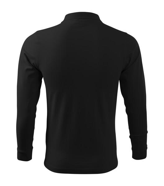Polo Shirt Gents Malfini Single J. LS - Black / L
