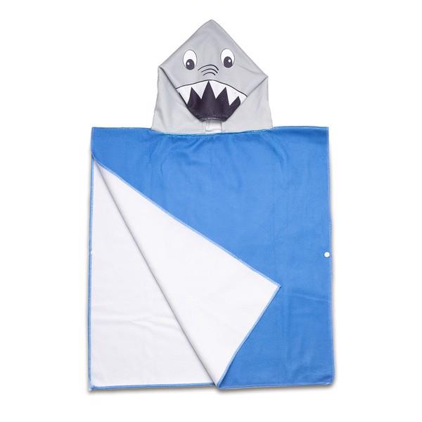 Sharky poncho-towel with a hood
