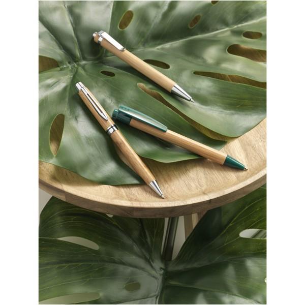 """Bolígrafo de bambú """"Borneo"""" - Natural / Azul Real"""
