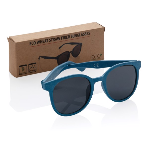 Sluneční brýle z pšeničné slámy - Modrá