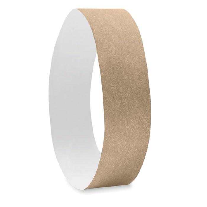 One sheet of 10 wristbands Tyvek - Gold