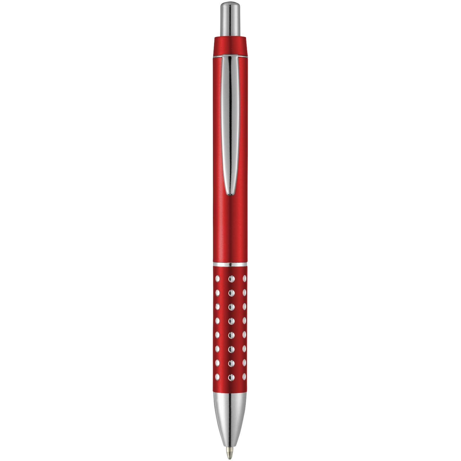 Kuličkové pero Bling s hliníkovým úchopem - Červená s efektem námrazy