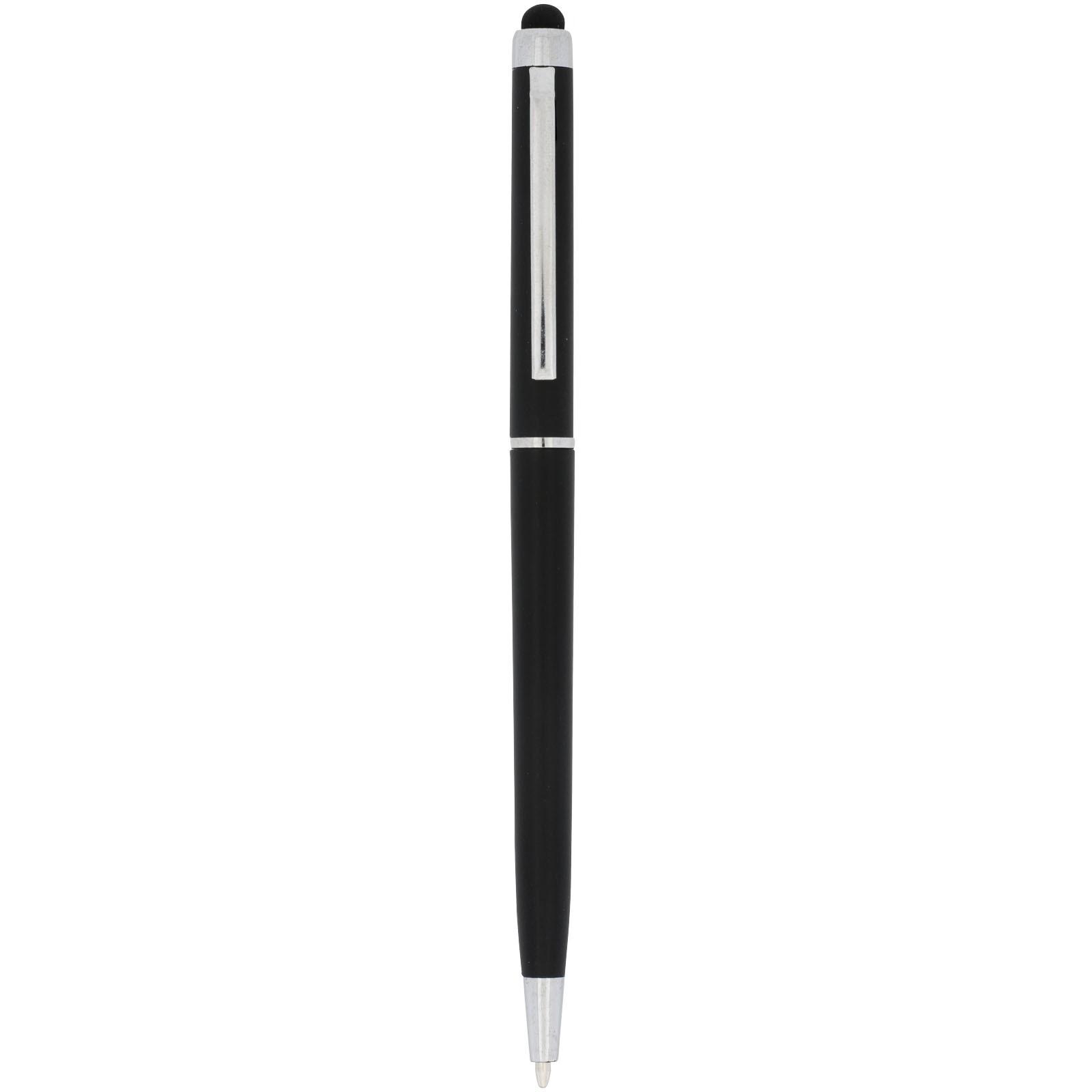Kuličkové pero a stylus Valeria z ABS plastu - Černá