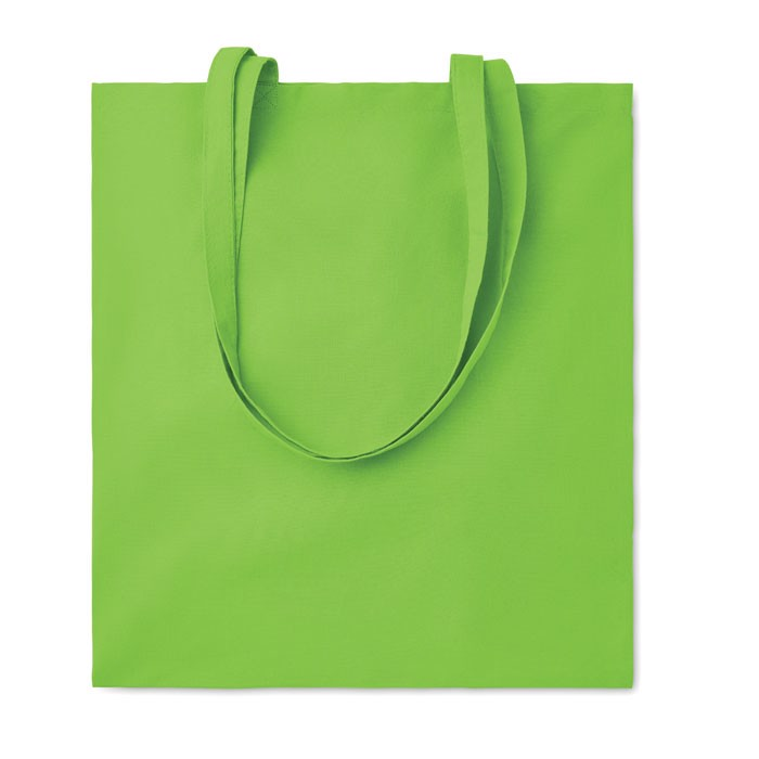 Cotton shopping bag 140gsm Cottonel Colour + - Lime
