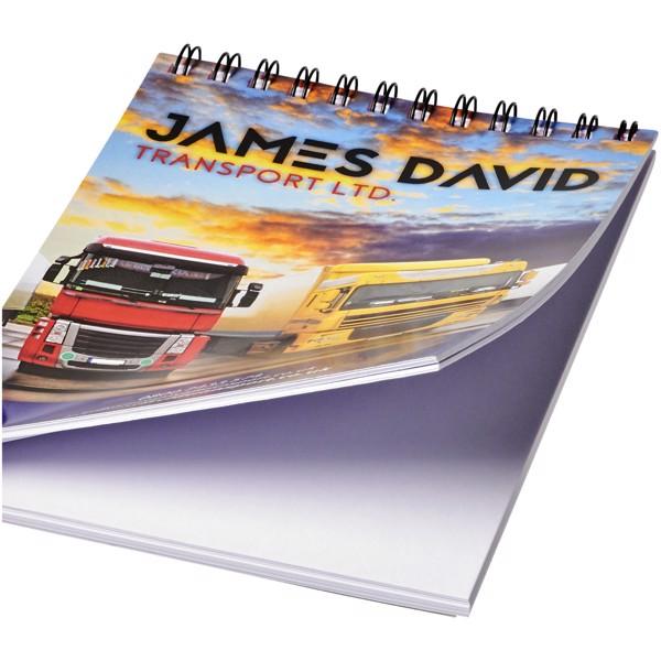 Poznámkový blok Desk-Mate® wire-o A6 - Bílá / Černá / 50 pages