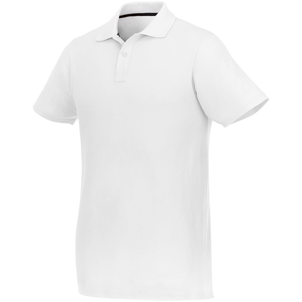Helios short sleeve men's polo - White / 4XL