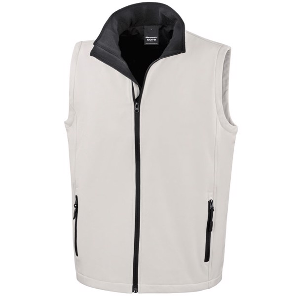 Men's Bodywarmer / Vest Soft Shell Bodywarmer R232m - White / 3XL