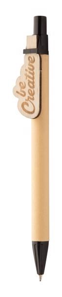 Kugelschreiber CreaClip Eco - Schwarz / Natur