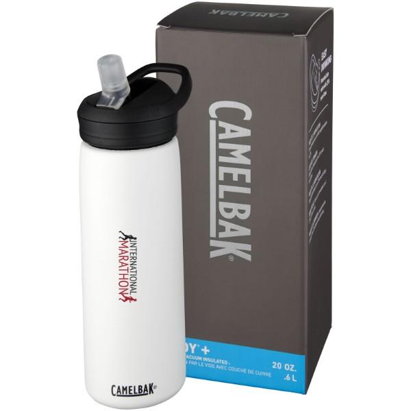Eddy+ 600 ml copper vacuum insulated sport bottle - White
