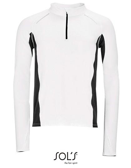 Men`S Long Sleeve Running T-Shirt Berlin - White / 3XL
