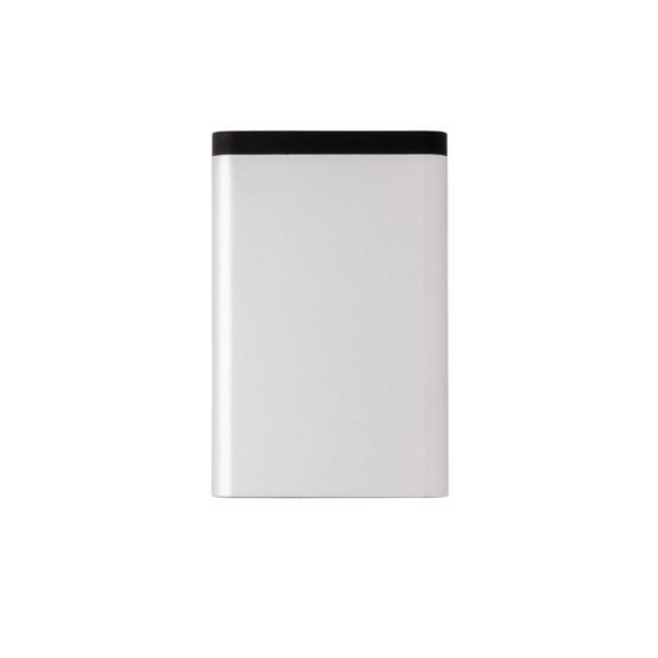 Hliníková kapesní powerbanka 10 000 mAh - Stříbrná