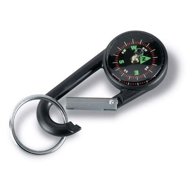 Karabinek z kompasem, brelok Lebone