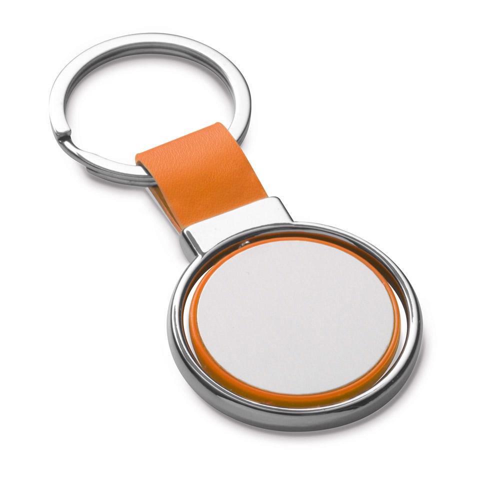 ALBRIGHT. Metal keyring - Orange