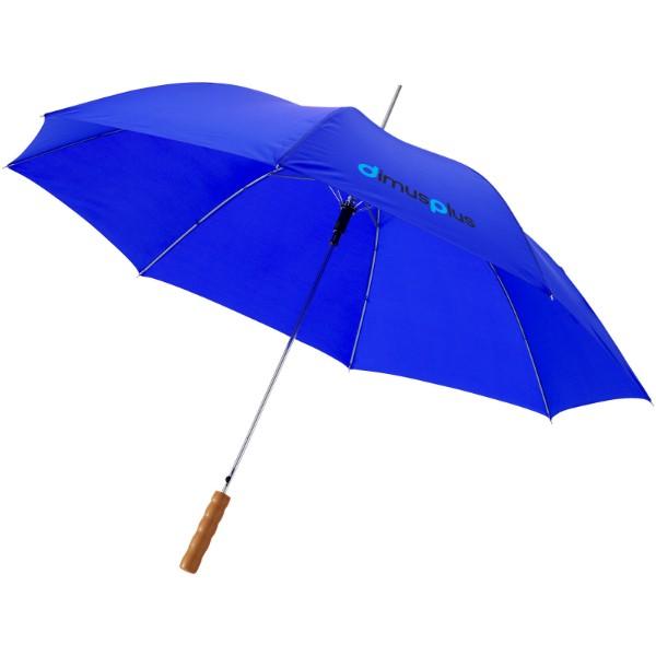 """23"""" deštník Lisa s automatickým otvíráním a dřevěnou rukojetí - Světle modrá"""