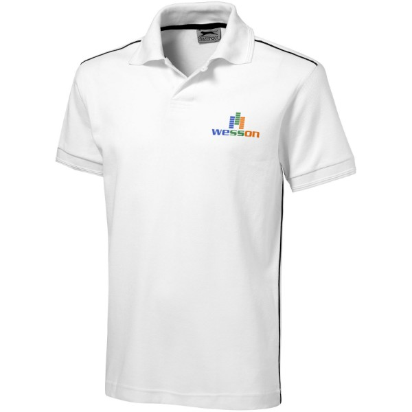Backhand short sleeve polo - White / S