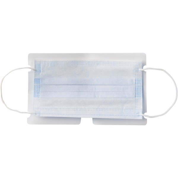 Madden fold-up face mask wallet - Frosted clear