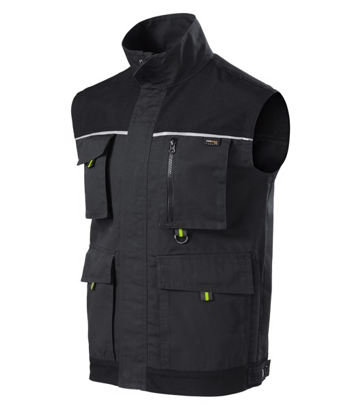 Work Vest Gents Rimeck Ranger - Ebony Gray / S