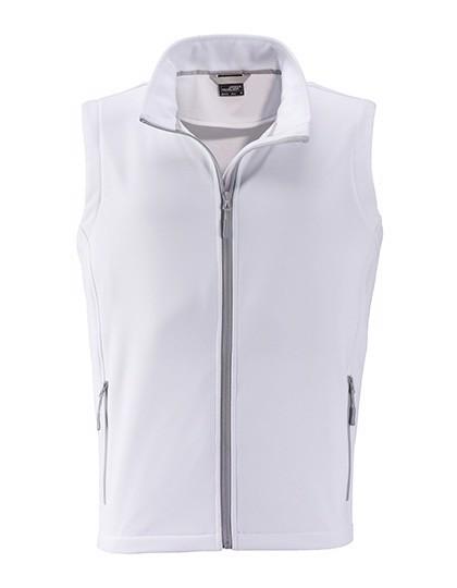 Men`S Promo Softshell Vest - White / White / 3XL