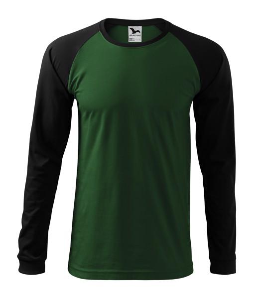 T-shirt men's Malfini Street LS - Bottle Green / 2XL