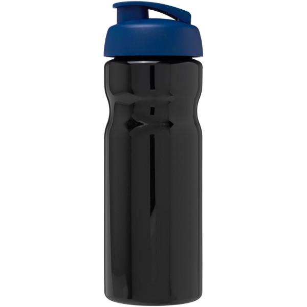 Sportovní láhev s vyklápěcím víčkem H2O Base® 650 ml - Černá / Modrá
