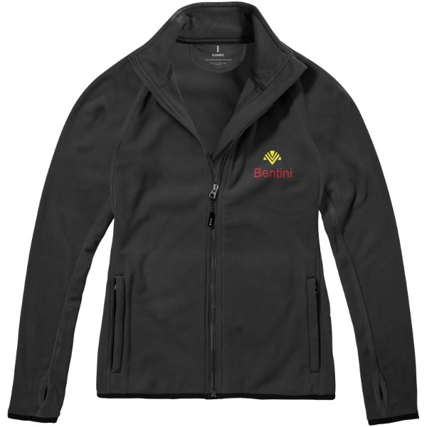 Brossard micro fleece full zip ladies jacket - Anthracite / S