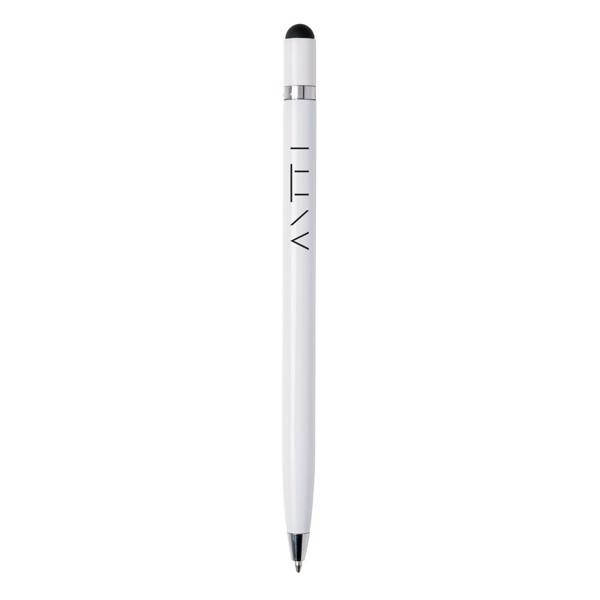 Egyszerű fém toll - Fehér