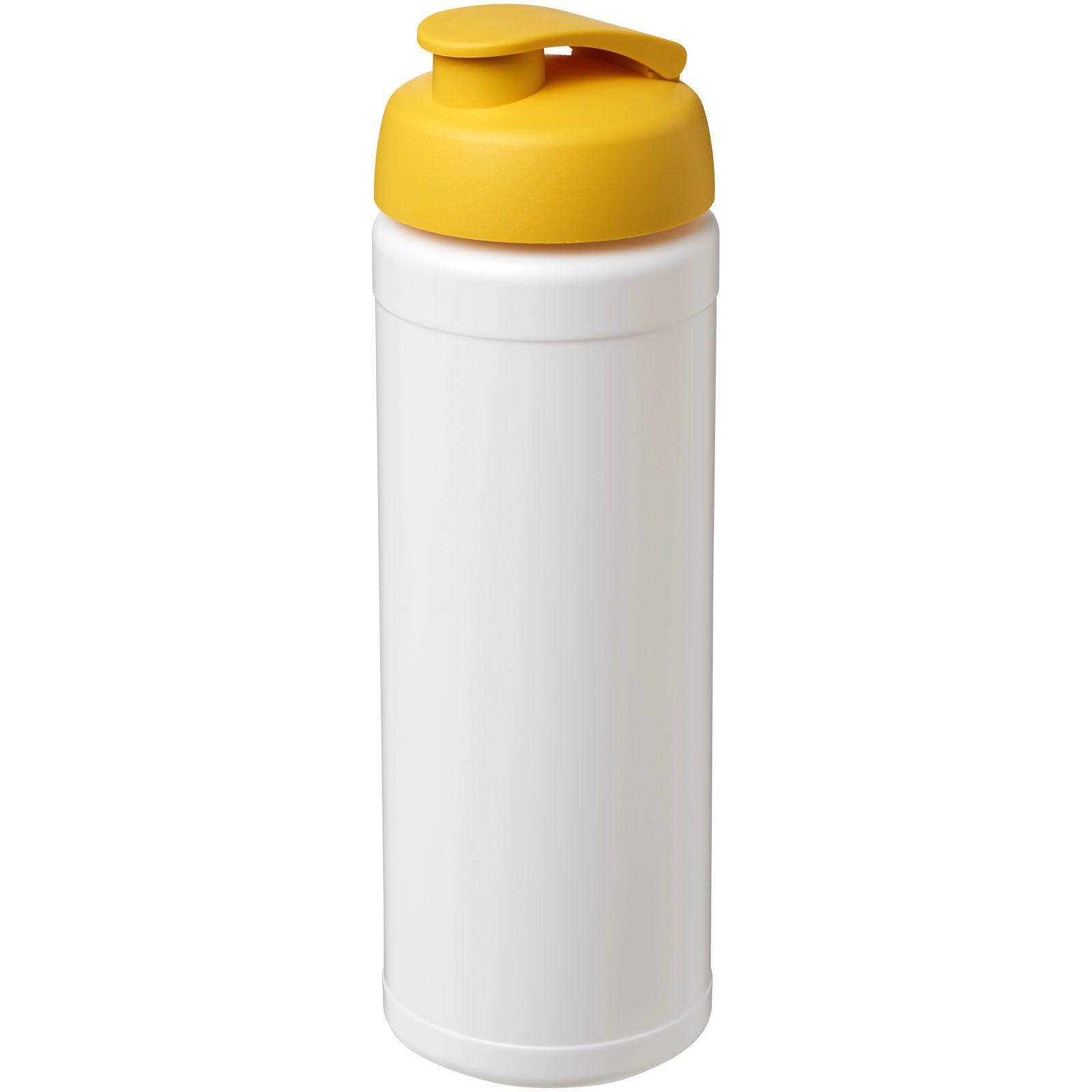 Baseline® Plus 750 ml flip lid sport bottle - White / Yellow