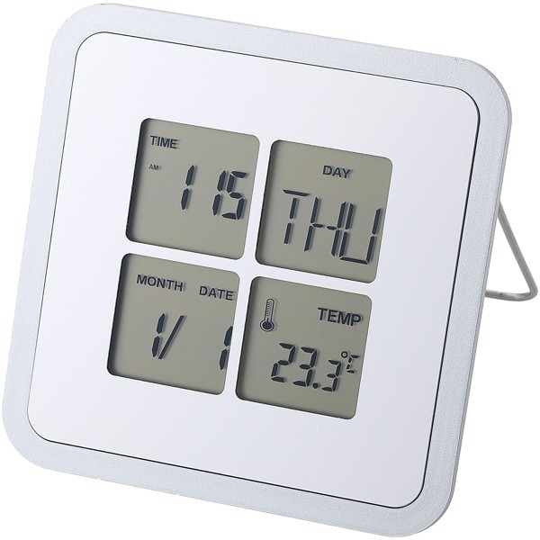 Livorno desk clock with temperature