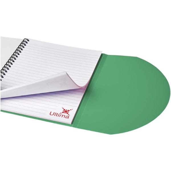 Poznámkový blok Curve A5 - Zelená / Bílá