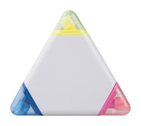 Zvýrazňovač Trico - Bílá / Vícebarevná